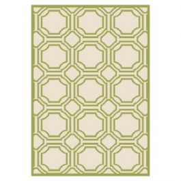 Ferrat Outdoor Rug Ivory / Light Green (68 X 213 cm)