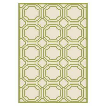 Ferrat Outdoor Rug Ivory / Light Green (152 X 243 cm)