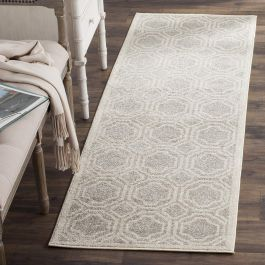 Ferrat Outdoor Rug Light Grey / Ivory (68 X 213 cm)