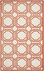 Ferrat Outdoor Rug Ivory / Orange (152 X 243 cm)