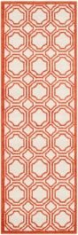 Ferrat Outdoor Rug Ivory / Orange (76 X 121 cm)