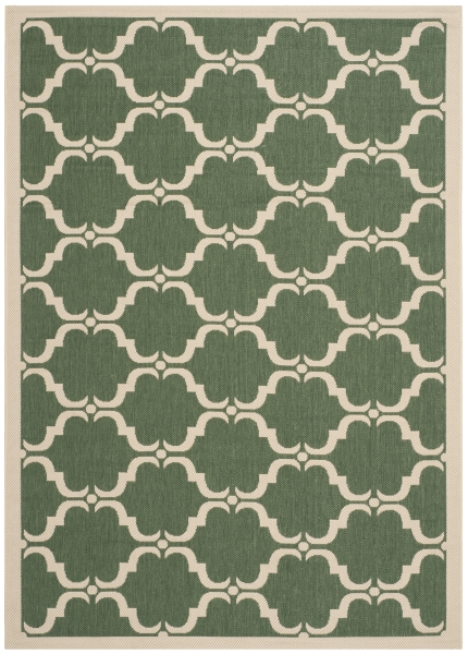 Lugano Outdoor Rug Dark Green / Beige (160 X 231 cm)