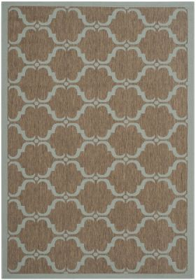 Lugano Outdoor Rug Brown / Aqua (200 X 289 cm)