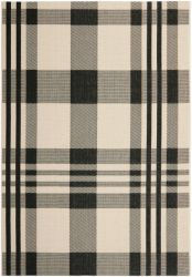 Mendez Outdoor Rug Black / Bone (121 X 170 cm)