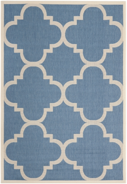 Mali Outdoor Rug Blue / Beige (121 X 170 cm)