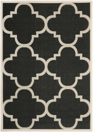 Mali Outdoor Rug Black / Beige (78 X 152 cm)