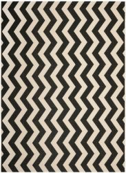 Amalfi Outdoor Rug Black / Beige (121 X 170 cm)