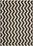 Amalfi Outdoor Rug Black / Beige (60 X 109 cm)