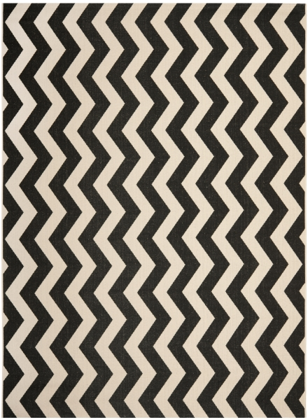 Amalfi Outdoor Rug Black / Beige (200 X 289 cm)