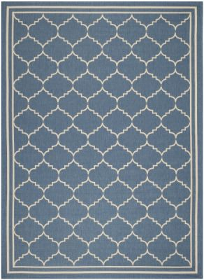 Chloe Outdoor Rug Blue / Beige (121 X 170 cm)