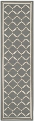 Chloe Outdoor Rug Grey / Beige (68 X 243 cm)