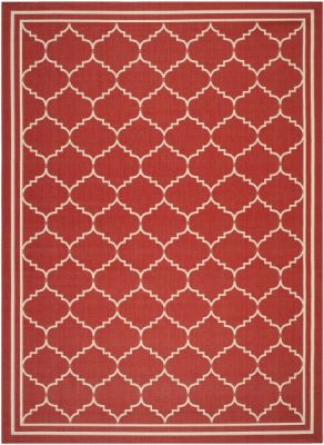 Chloe Outdoor Rug Red / Beige (121 X 170 cm)