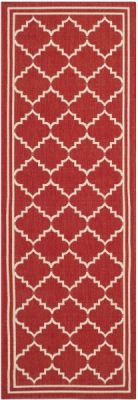 Chloe Outdoor Rug Red / Beige (68 X 243 cm)