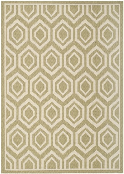 Felix Outdoor Rug Green / Beige (160 X 231 cm)