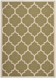 Monaco Outdoor Rug Green / Beige (60 X 109 cm)