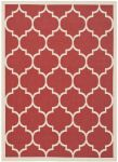 Monaco Outdoor Rug Red / Bone (121 X 170 cm)
