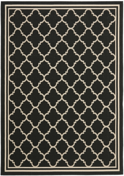 Bleeker Outdoor Rug Black / Beige (121 X 170 cm)