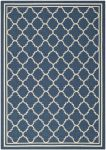 Bleeker Outdoor Rug Navy / Beige (60 X 109 cm)