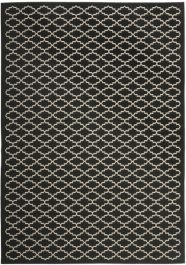 Gwen Outdoor Rug Black / Beige (121 X 170 cm)