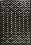 Gwen Outdoor Rug Black / Beige (60 X 109 cm)