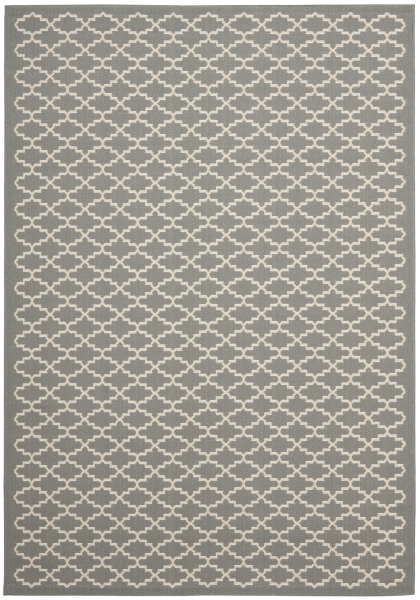 Gwen Outdoor Rug Anthracite / Beige (60 X 109 cm)