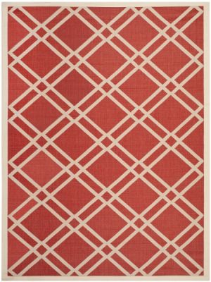 Marbella Outdoor Rug Red / Bone (60 X 109 cm)