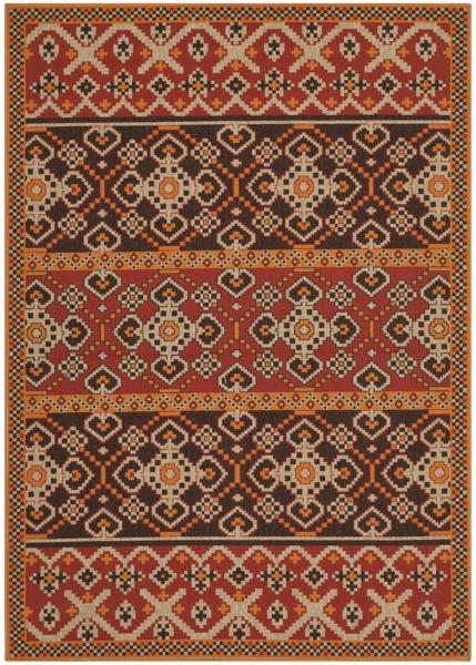Akot Outdoor Rug Red / Chocolate (121 X 170 cm)