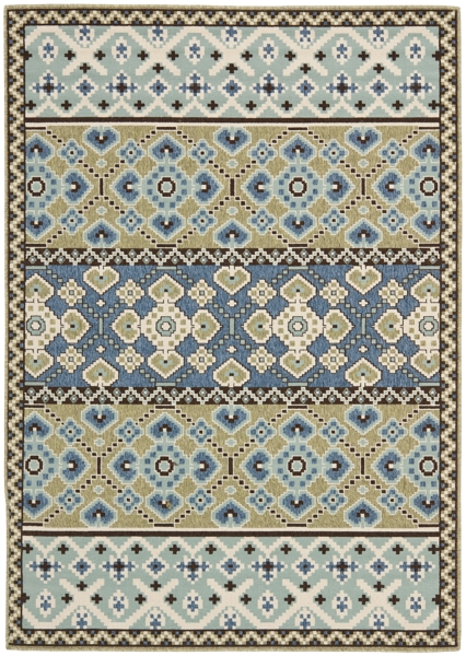 Akot Outdoor Rug Green / Blue (78 X 152 cm)
