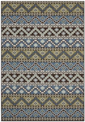 Una Outdoor Rug Blue / Creme (78 X 152 cm)