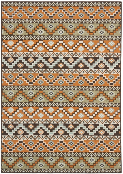 Una Outdoor Rug Terracotta / Chocolate (200 X 289 cm)