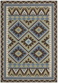 Tikota Outdoor Rug Green / Chocolate (121 X 170 cm)