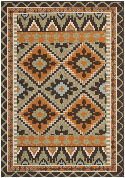 Tikota Outdoor Rug Green / Terracotta (200 X 289 cm)