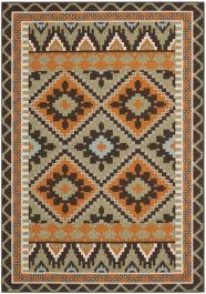 Tikota Outdoor Rug Green / Terracotta (121 X 170 cm)