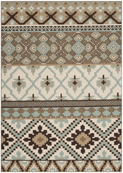 Sihora Outdoor Rug Creme / Brown (121 X 170 cm)