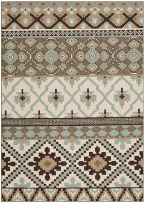 Sihora Outdoor Rug Creme / Brown (78 X 152 cm)