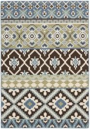 Sihora Outdoor Rug Chocolate / Blue (78 X 152 cm)