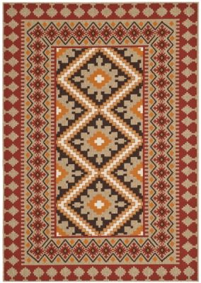 Ratia Outdoor Rug Red / Natural (200 X 289 cm)