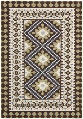 Ratia Outdoor Rug Chocolate / Green (200 X 289 cm)