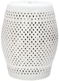 Diamond Garden Stool Cream