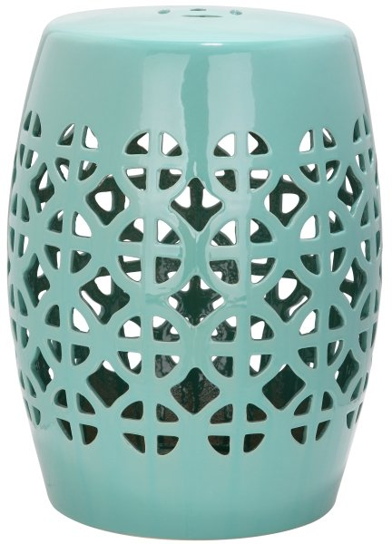 Circle Lattice Garden Stool Robins Egg Blue