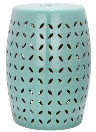 Lattice Petal Garden Stool Robins Egg Blue