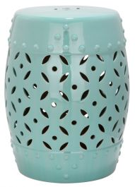 Lattice Coin Garden Stool Robins Egg Blue