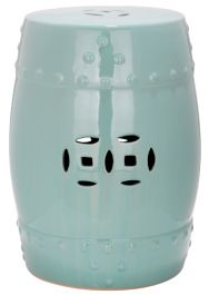 Modern Ming Garden Stool Light Aqua