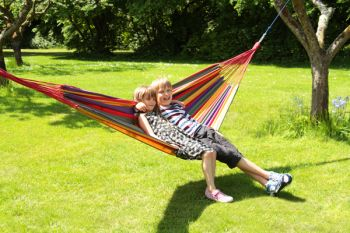 Tortola Rainbow Outdoor Garden Double Hammock