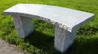 Curved Bench- Grey Granite 100cm L Garden Furniture