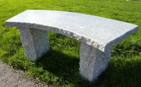 Curved Bench- Pink Granite 100cm L Garden Furniture