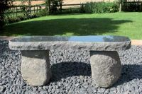 Natural Boulder Bench- Black Granite 120cm L Garden Furniture