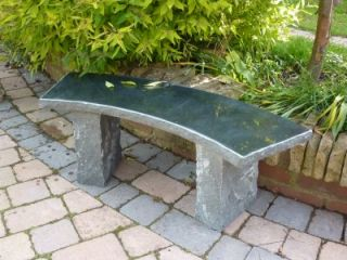Balmoral Bench- Black Granite 110cm L Garden Furniture