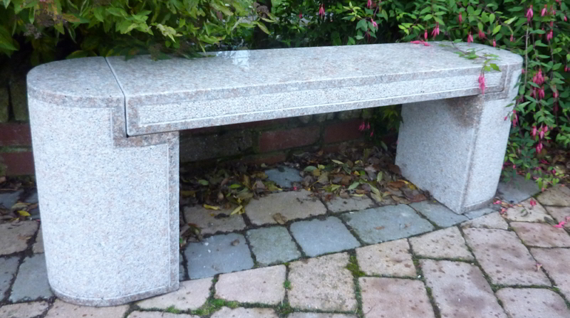 Aberdeen Bench 130cmL - Pink Granite Garden Furniture