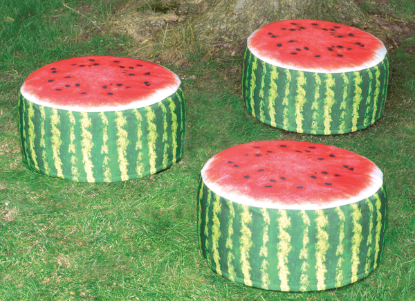 Decorative Garden Pouffe Outdoor Seat Watermelon Design